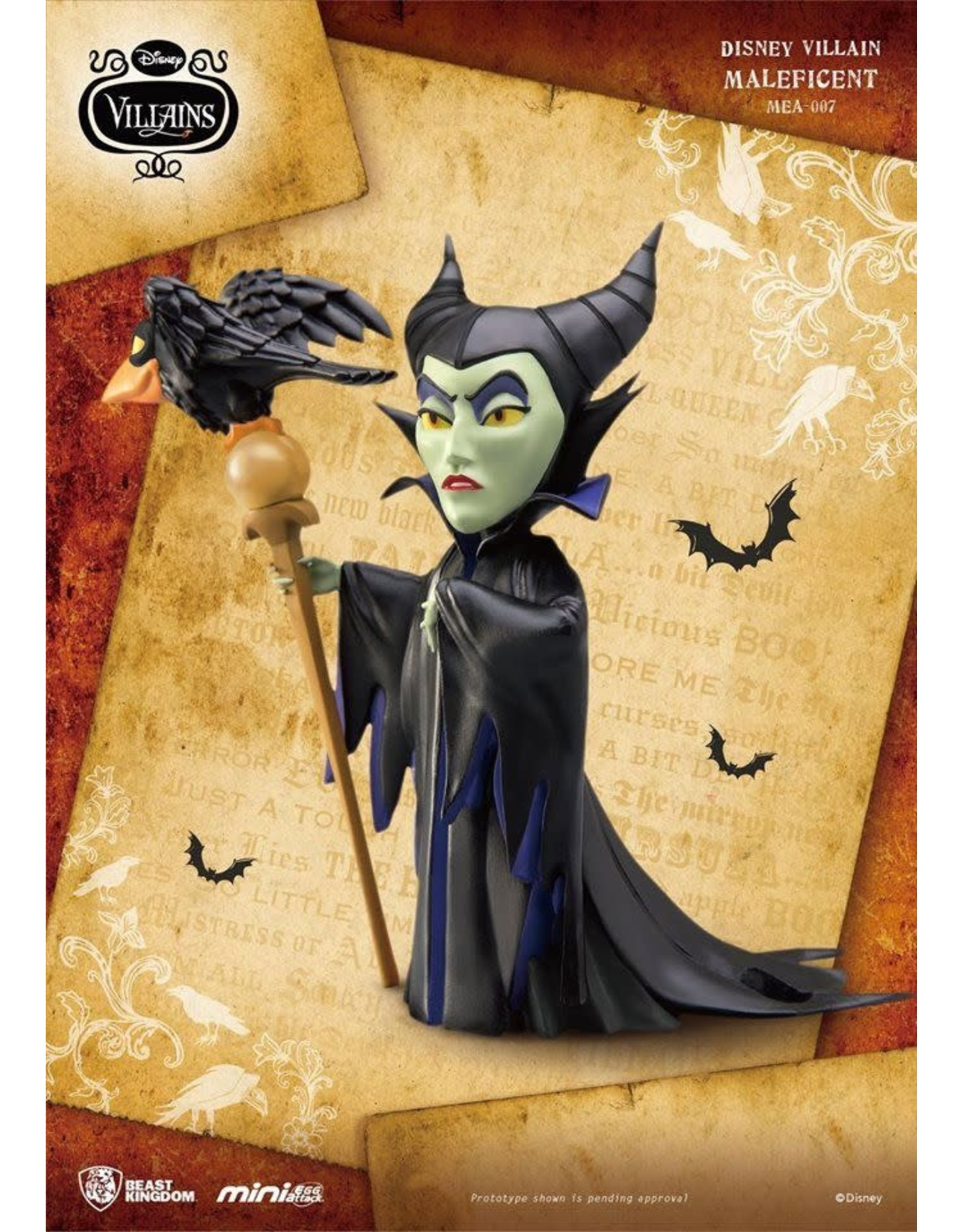 DISNEY VILLAINS - Figurine Mini Egg Attack - Maleficent - 9cm