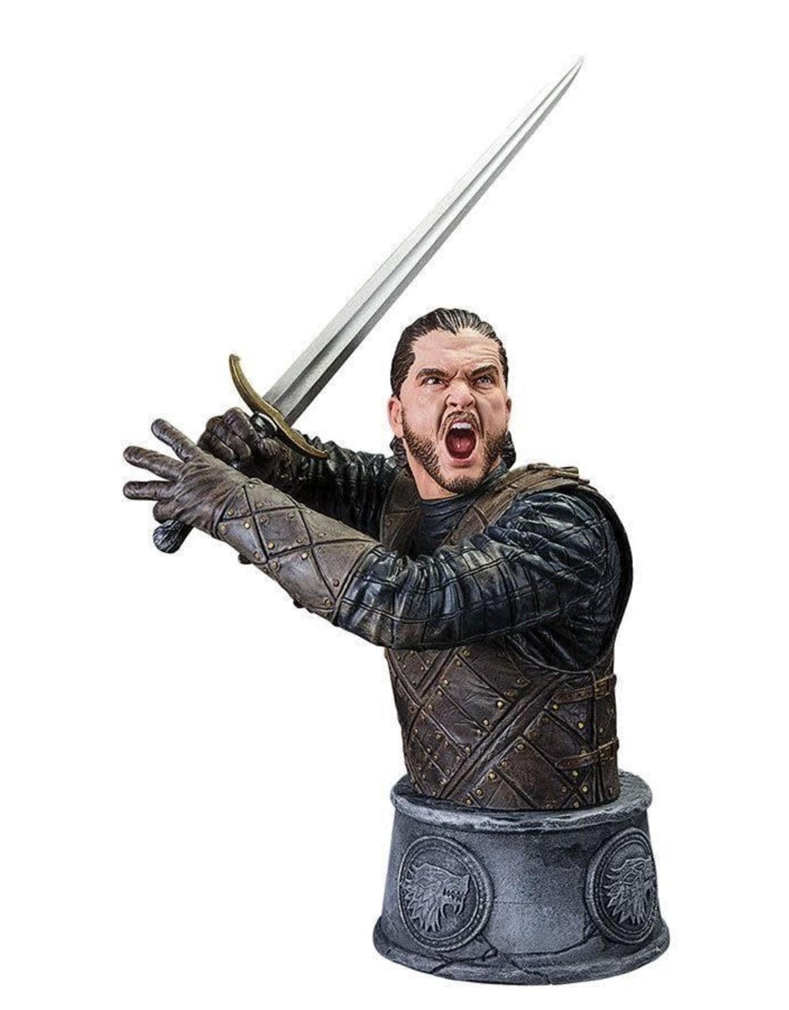 GAME OF THRONES - Jon Snow Battle of the Bastard Bust - 15cm