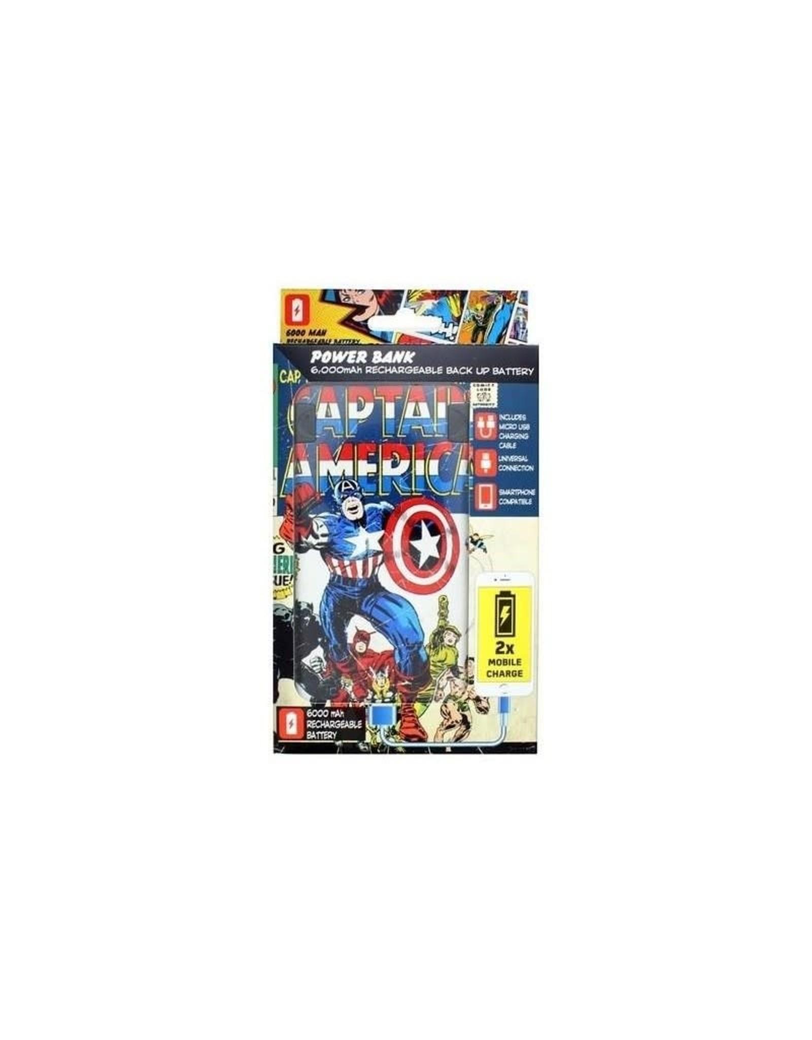 MARVEL - POWER BANK 6000 mAh - Captain America