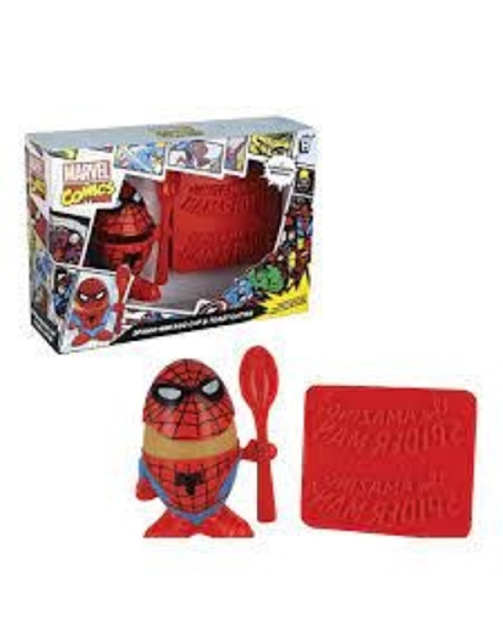 MARVEL - Spiderman Egg Cup and Toast Cutter
