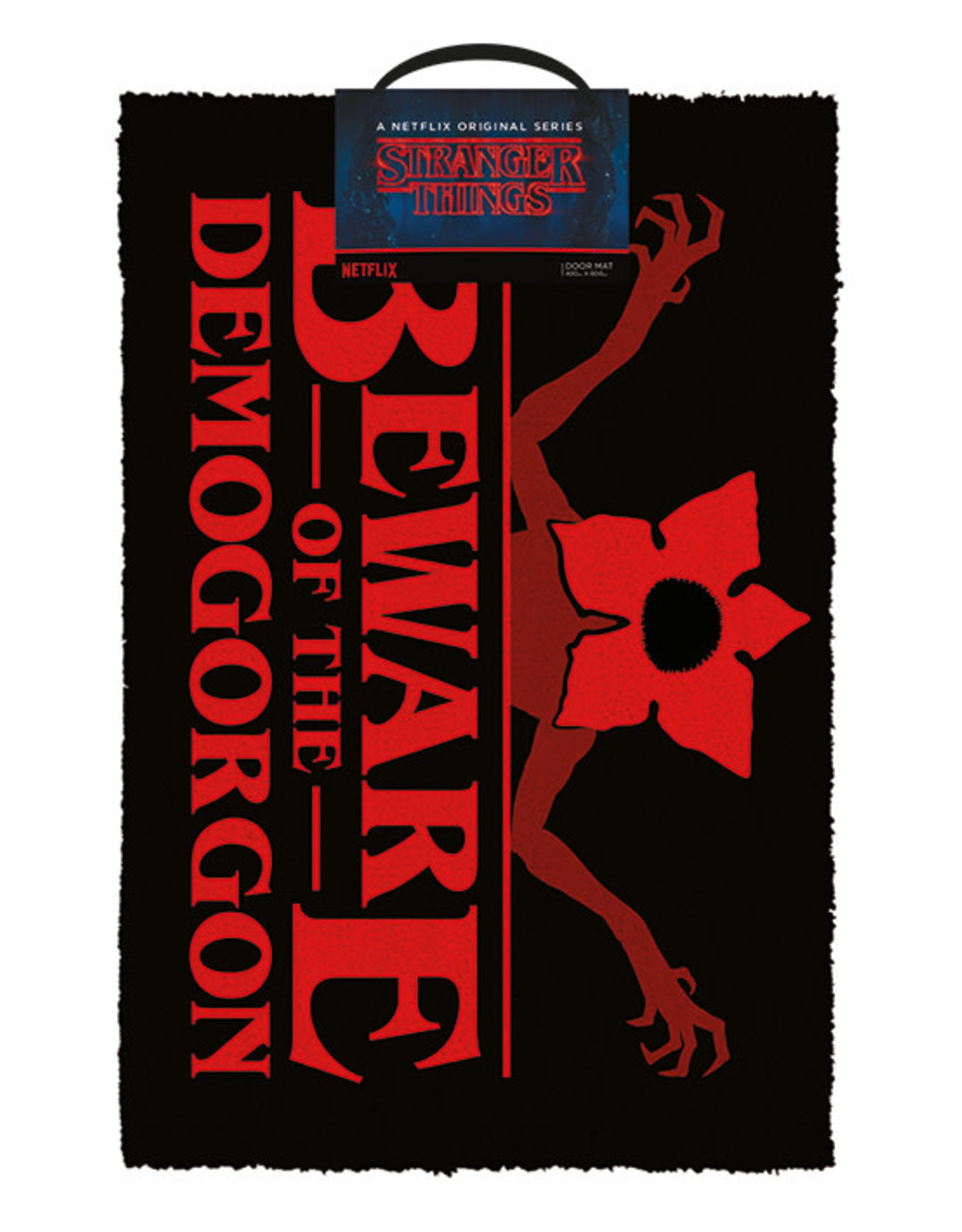 STRANGER THINGS Doormat 40x60 - Beware of the Demogorgon