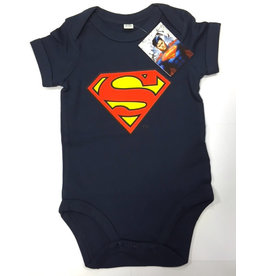 SUPERMAN - Baby Body Logo - Navy (12 Month)