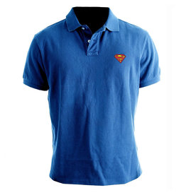 SUPERMAN - Polo - Logo Superman - Cobalt (L)