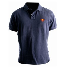 SUPERMAN - Polo - Logo Superman - Navy (L)