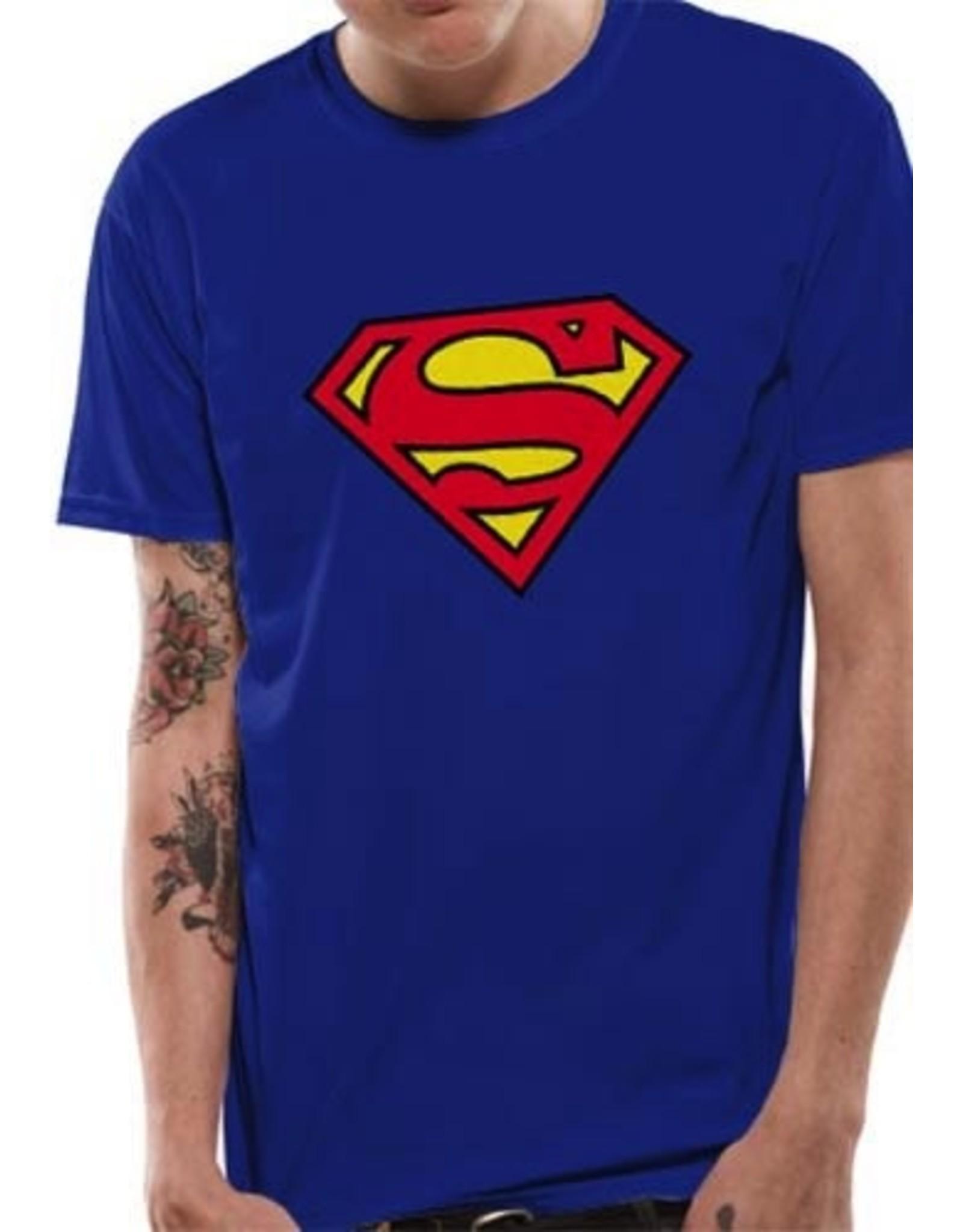 SUPERMAN - T-Shirt IN A TUBE- Logo (L)