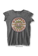 THE BEATLES - T-Shirt BurnOut Col - Sgt Pepper Drum - Woman (L)