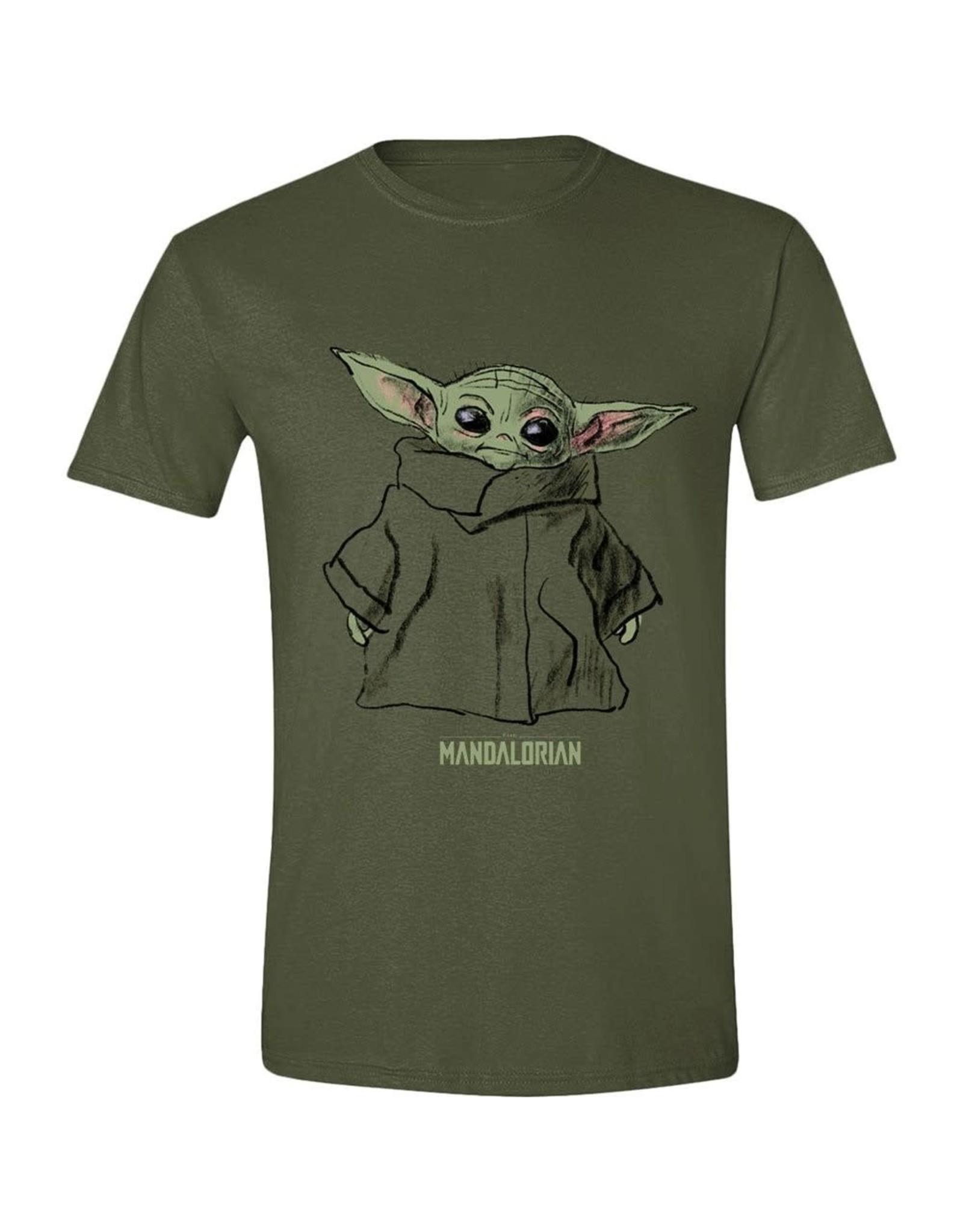 THE MANDALORIAN T-Shirt (M) - The Child Sketch