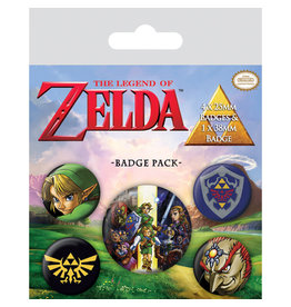 ZELDA 5-Pack Badges - The Legend of Zelda