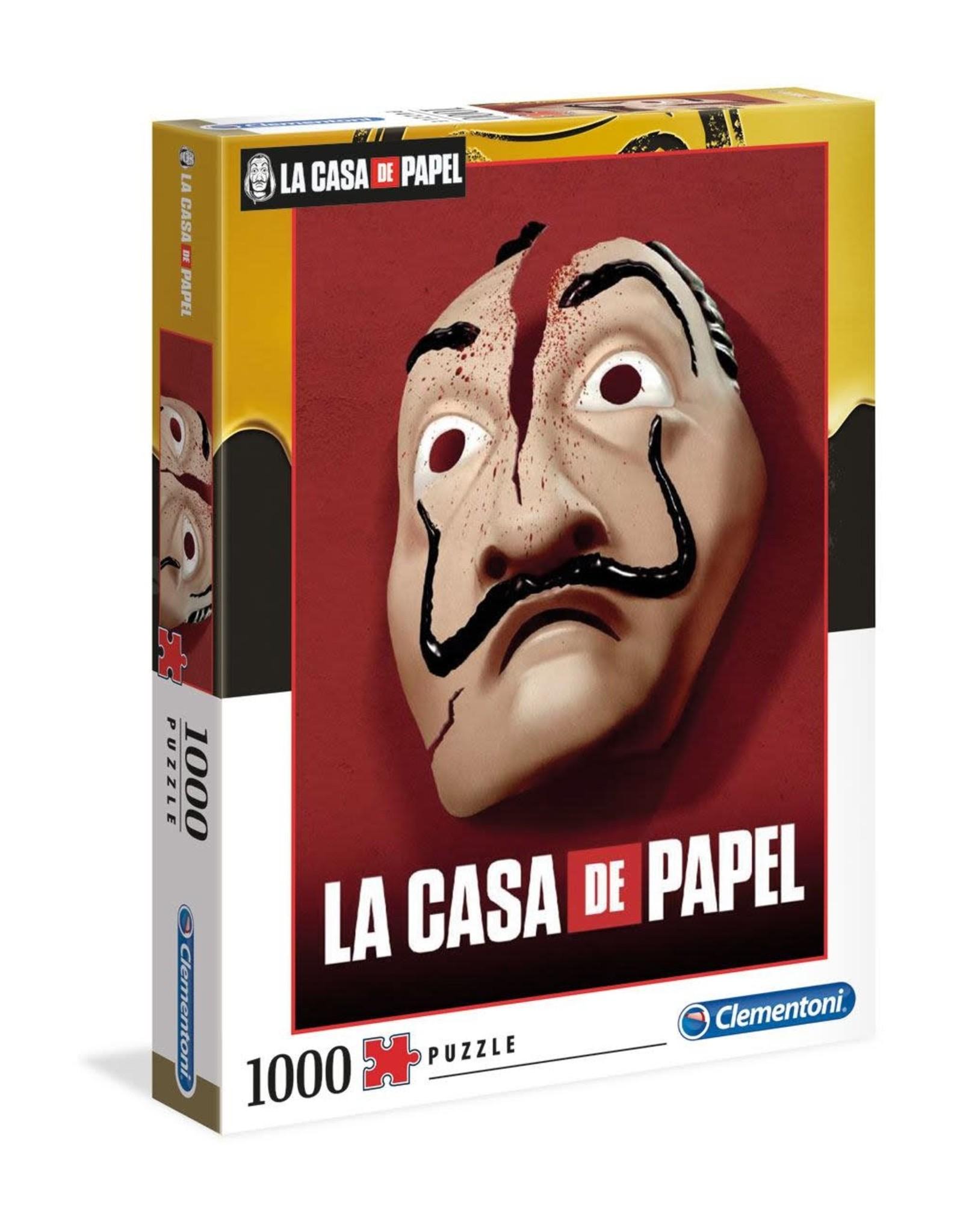 Clementoni CASA DE PAPEL Puzzle 1000P -  Mask