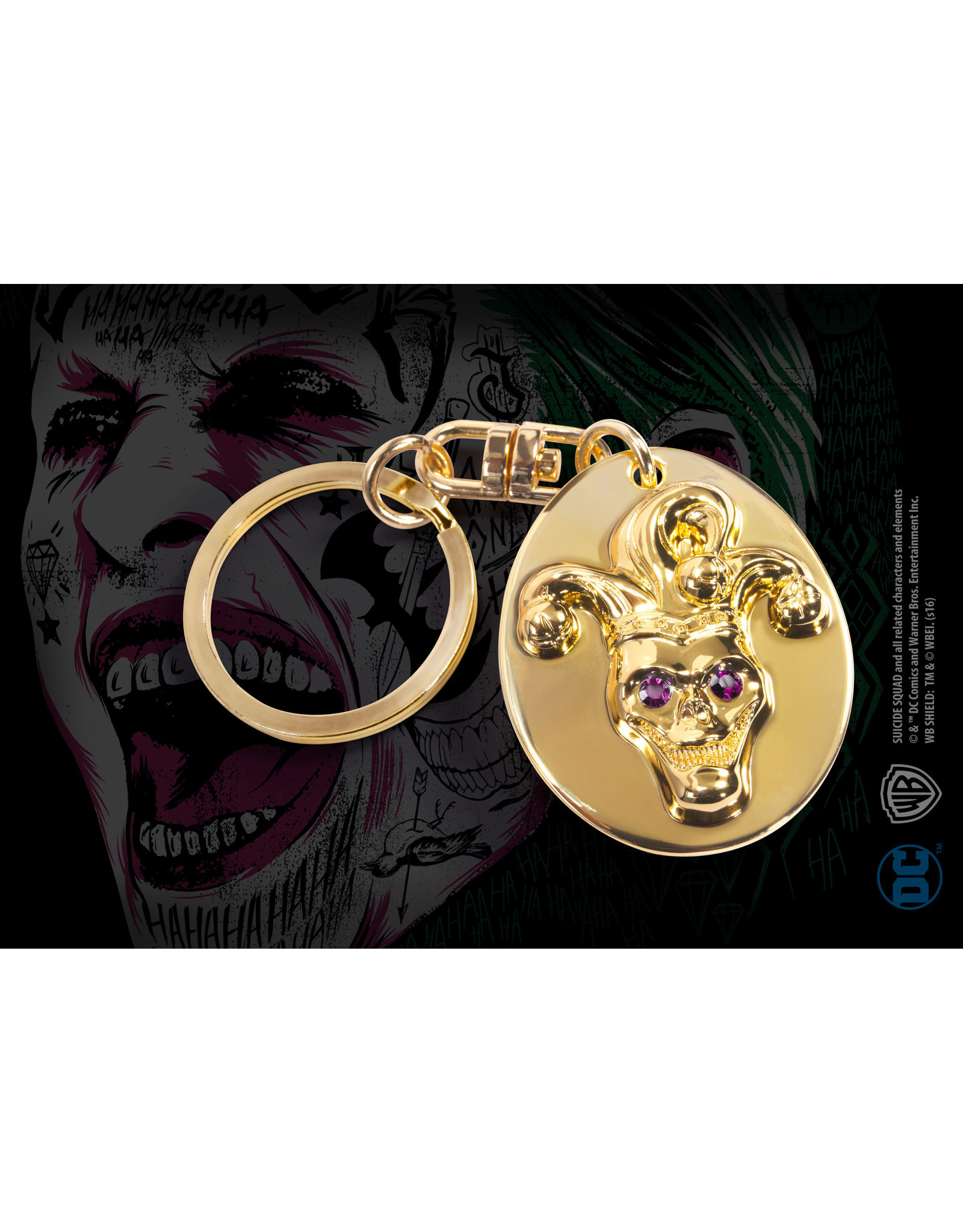 Noble Collection JOKER - Metal Keychain - Suicide Squad Replica