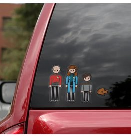 Think Geek STAR TREK Family Car Decals - The Next Generation