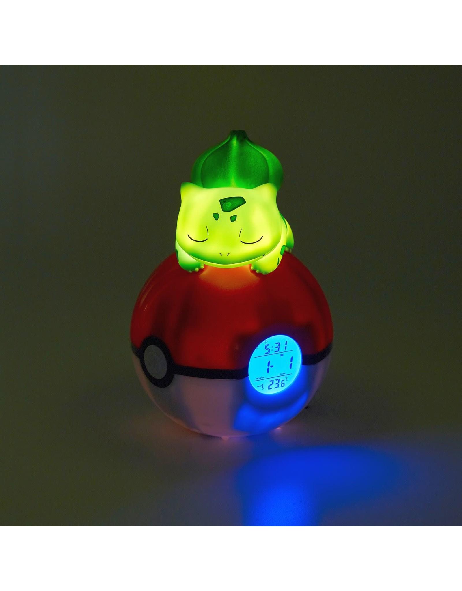 Teknofun POKEMON Radio Alarm Clock with Light - Bulbasaur