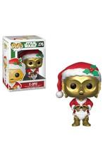 STAR WARS - Bobble Head POP N° 276 - Holiday - C-3PO as Santa