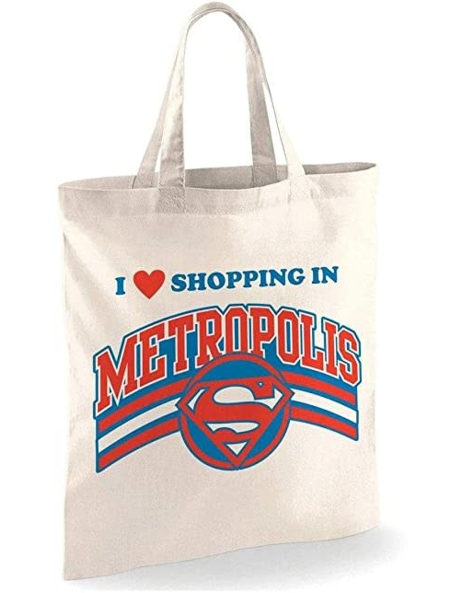 Superman Tote Bag Shopping in Metropolis