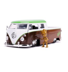 Jada Toys GUARDIANS OF THE GALAXY Diecast Model 1:24 - 1962 Volkswagen Bus with Figure