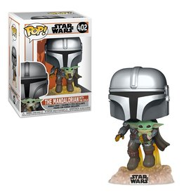 Funko STAR WARS POP! N° 402 - Mandalorian: Mando Flying with Jet Pack