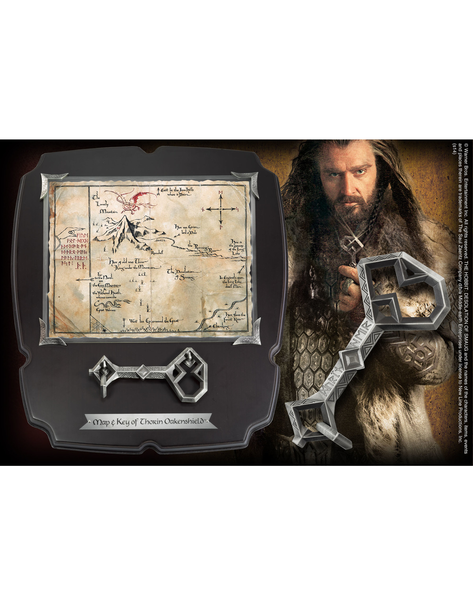 Noble Collection THE HOBBIT Thorin´s Oakenshield Map & Key Deluxe