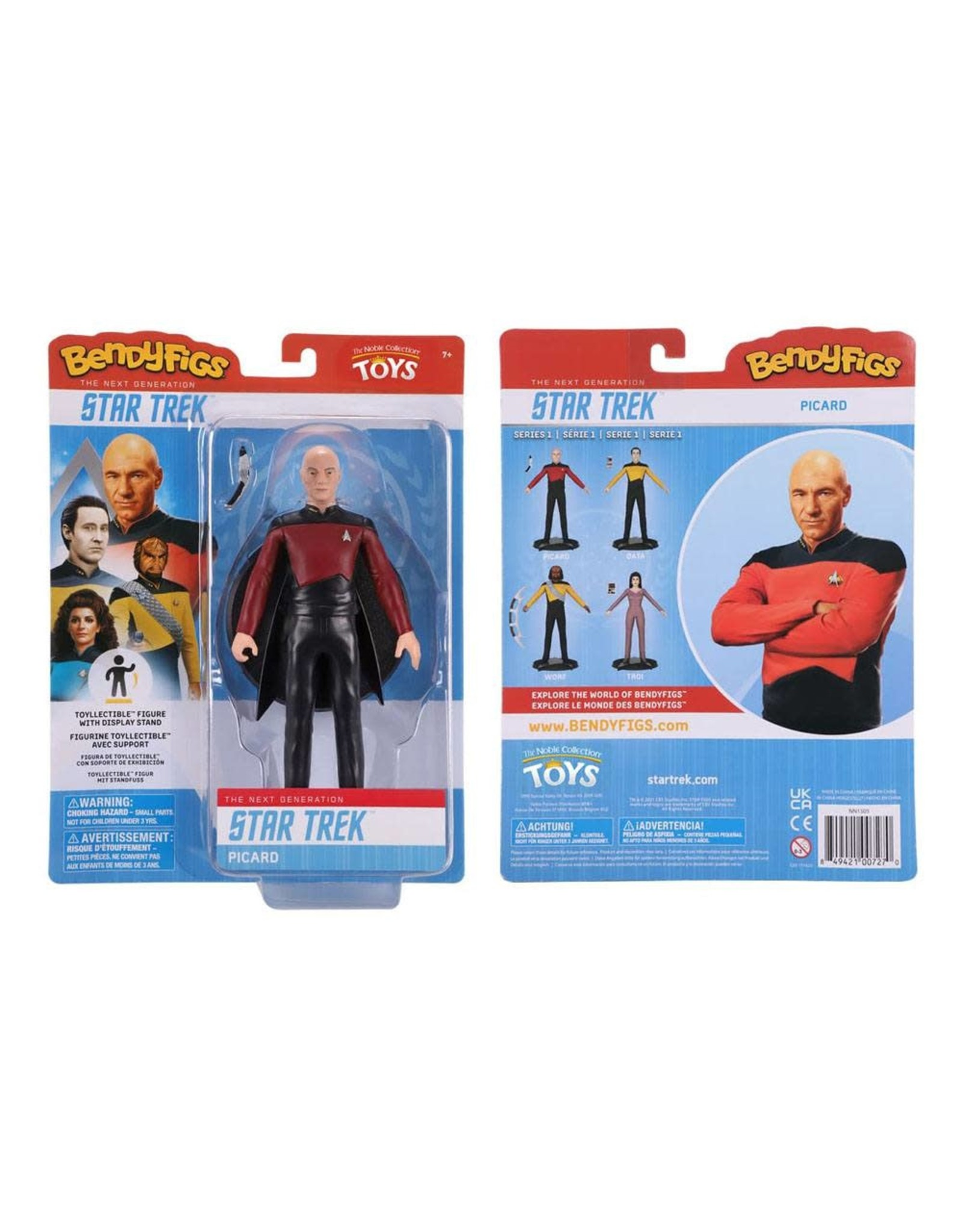 Noble Collection STAR TREK The Next Generation Bendable Figure 19cm - Capt. Picard