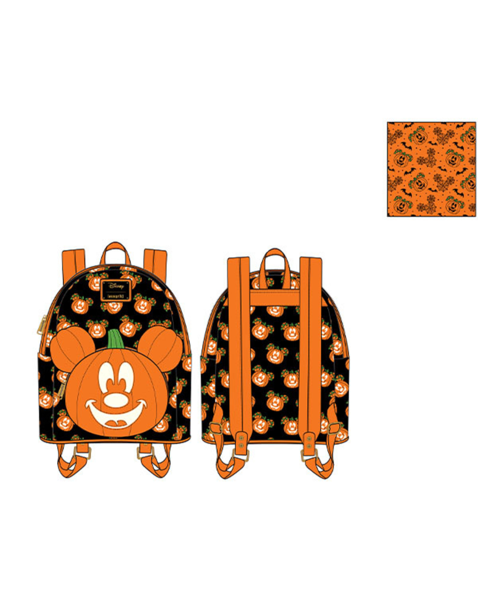 Loungefly MICKEY MOUSE Mini Backpack - Mick-O-Lantern