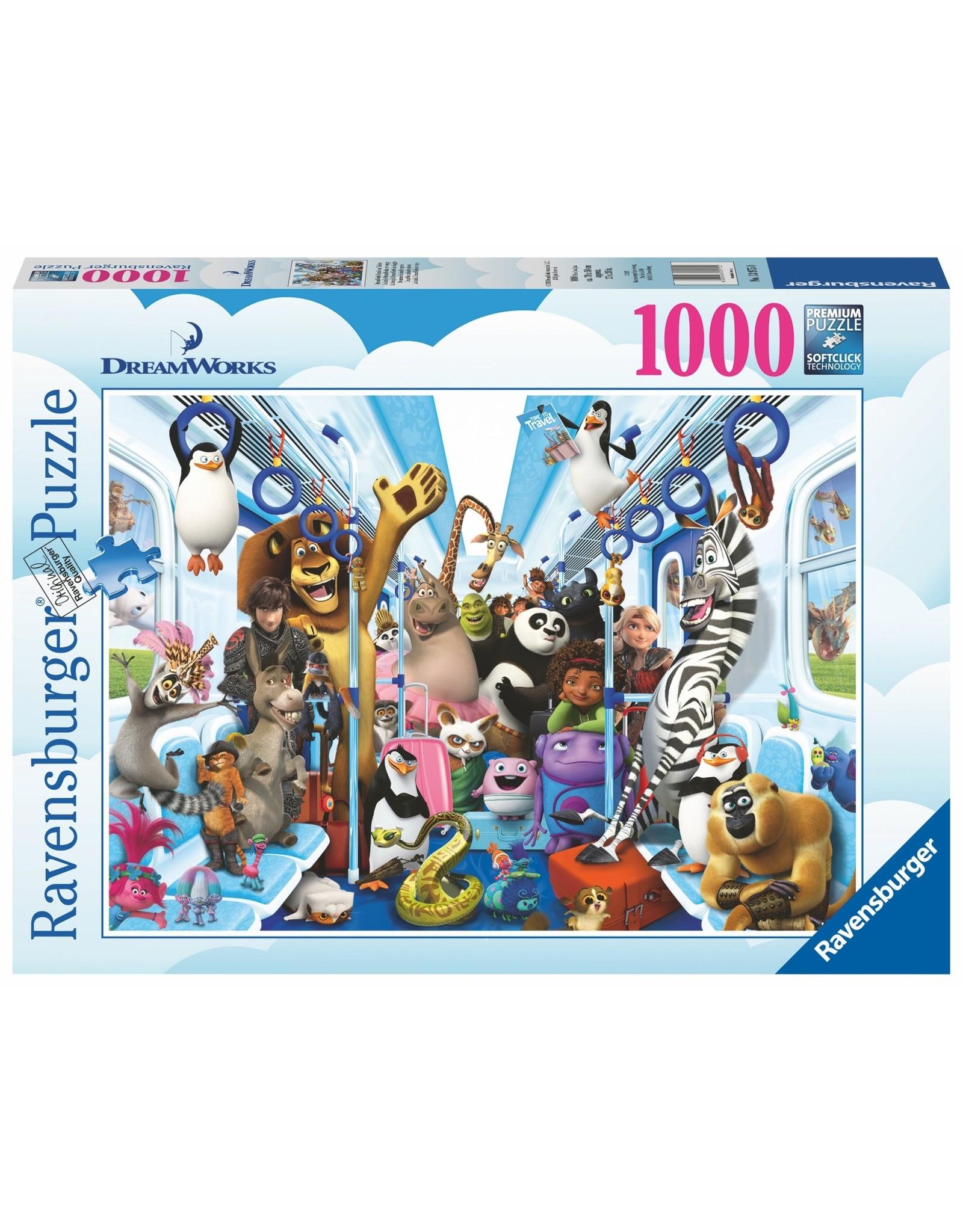 Ravensburger DREAMWORKS Puzzle 1000P - Travel Family