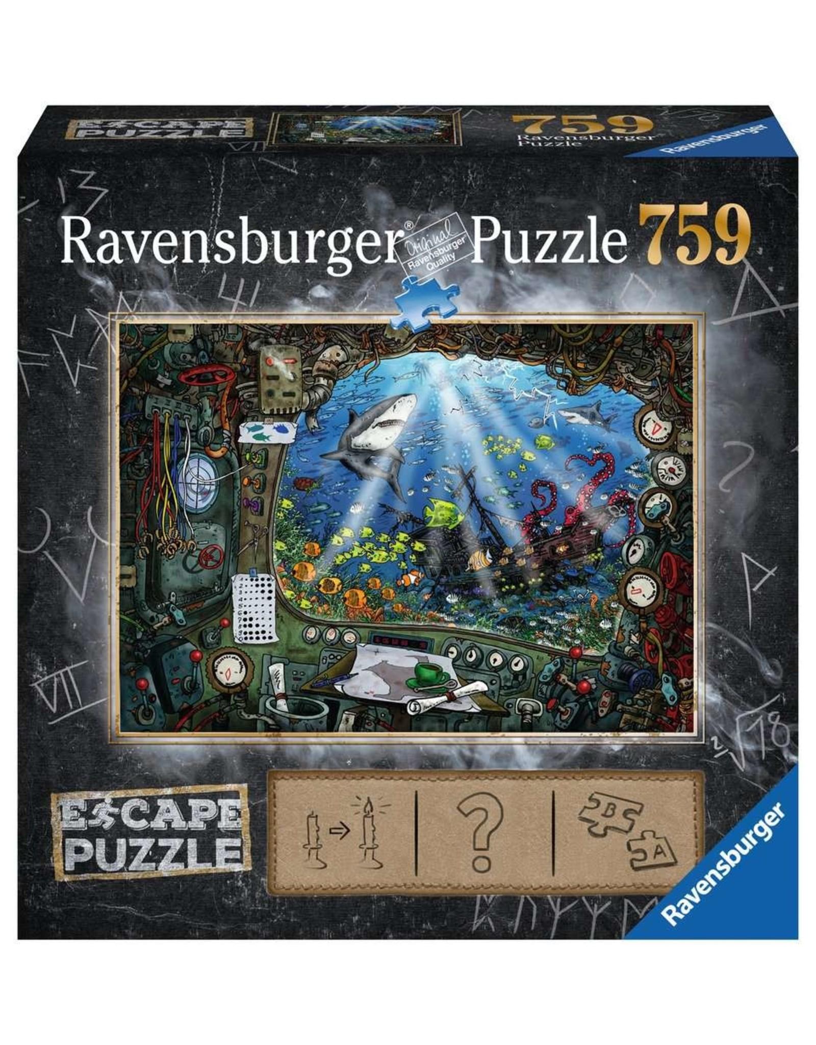 Ravensburger ESCAPE Puzzle 759P - 04 De Onderzeeër