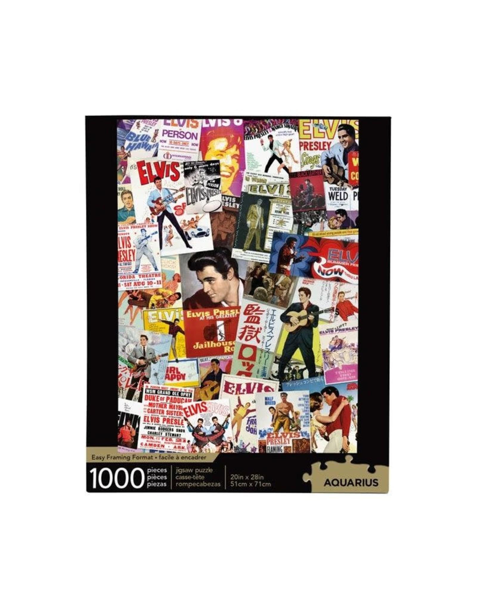 Aquarius Ent ELVIS PRESLEY Puzzle 1000P - Movie Poster Collage