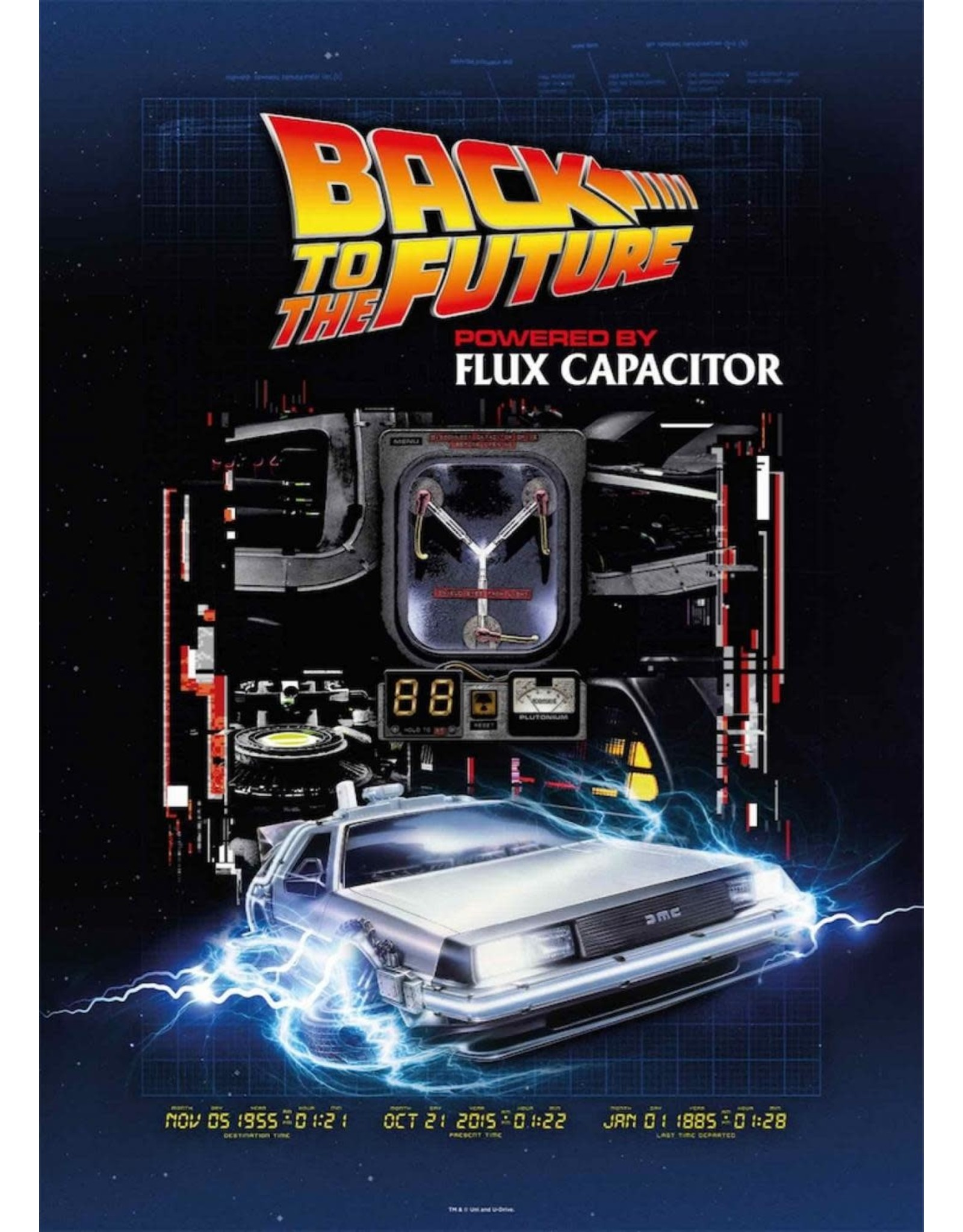 SD Toys BACK TO THE FUTURE Puzzle 1000P - Flux Capacitor
