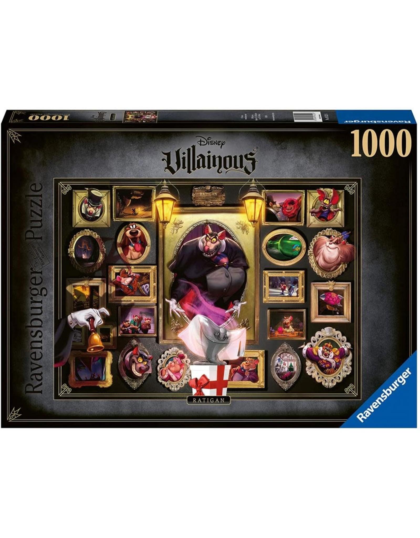 Ravensburger VILLAINOUS Puzzle 1000P - Great Mouse Detective: Ratigan