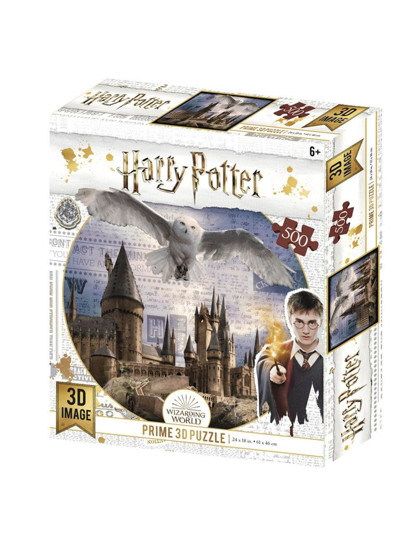 HARRY POTTER Lenticular Puzzle 500P - Flying Over