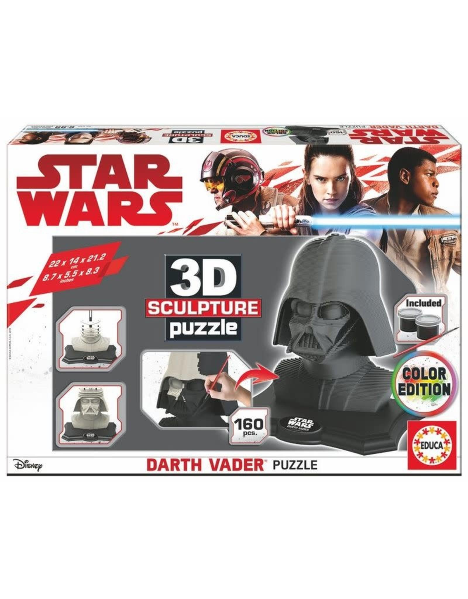 Educa Borras STAR WARS 3D Puzzle Darth Vader Colour Edition