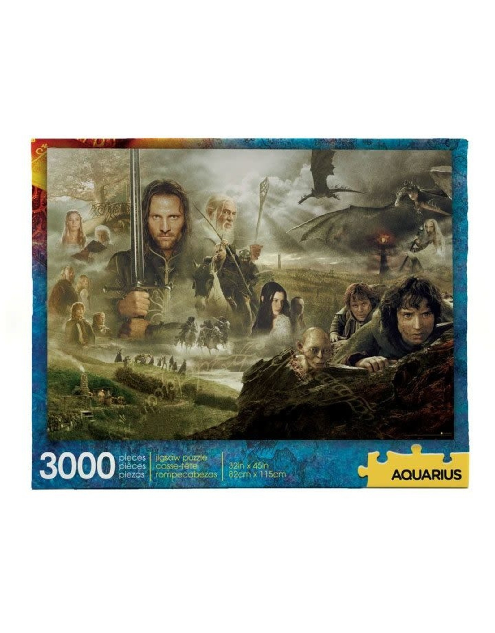 Aquarius Ent LORD OF THE RINGS Puzzle 3000P - Saga