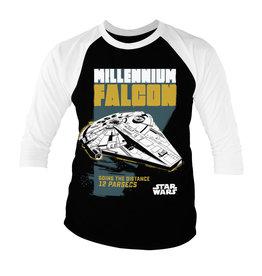 STAR WARS - Baseball 3/4 Sleeve T-Shirt - Millennium Falcon (S)