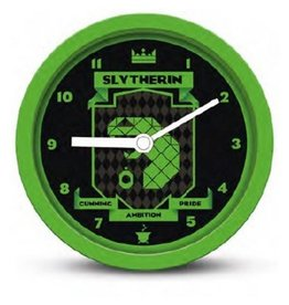 Hole in the Wall HARRY POTTER Brutalist Desk Clock -  Slytherin