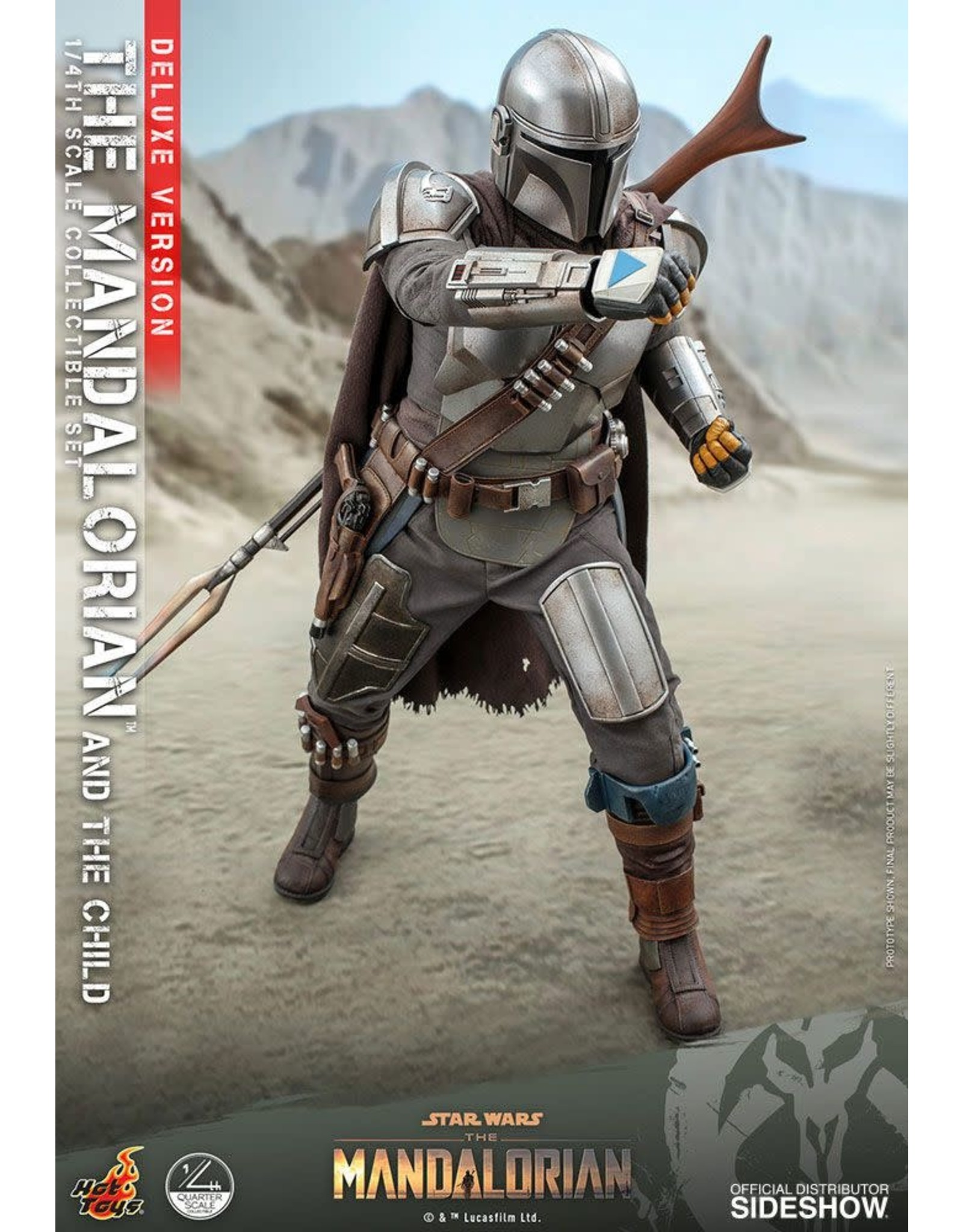 Hot Toys STAR WARS  Action Figure 1/4 Scale 46cm - The Mandalorian & The Child Deluxe