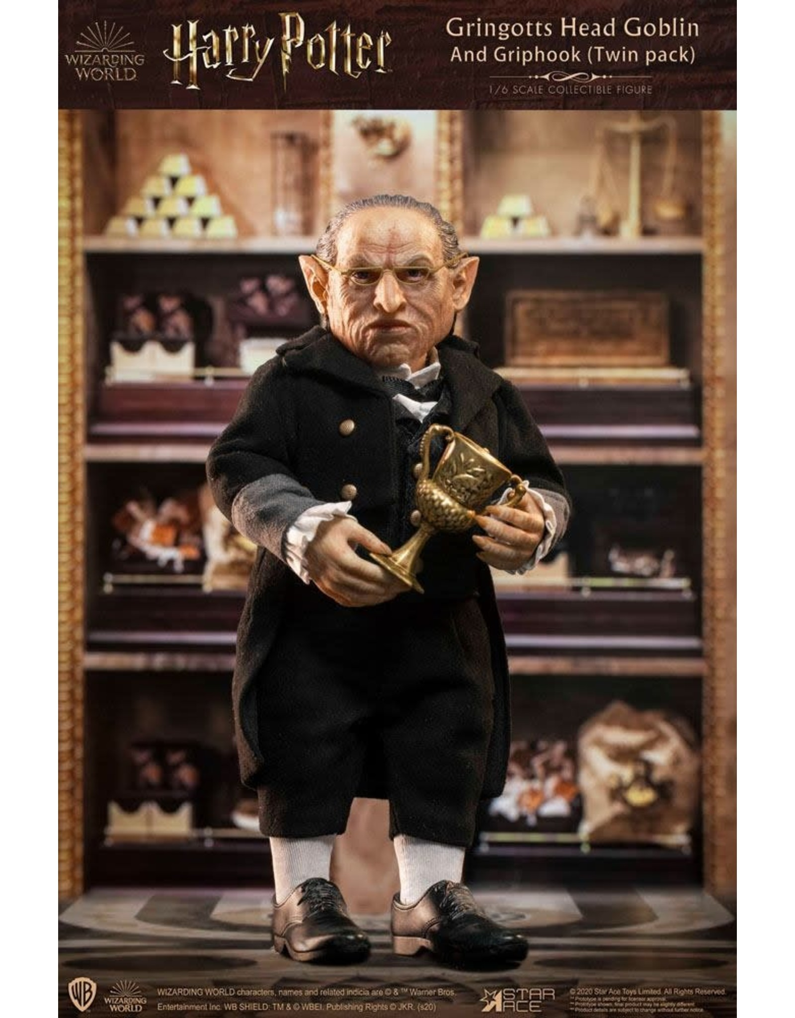 Star Ace Toys HARRY POTTER My Favourite Movie 1/6 Scale Model - Gringotts Head Goblin & Griphook