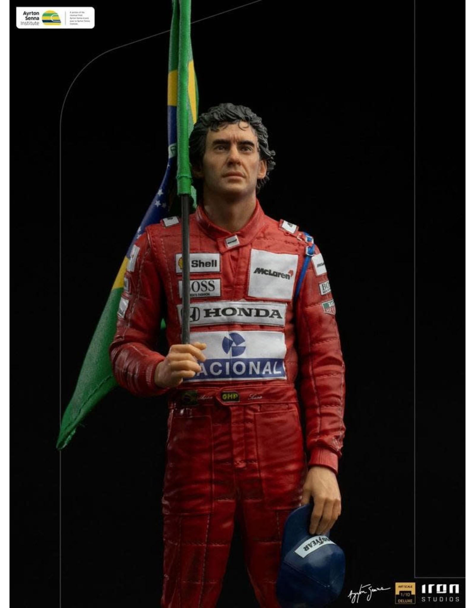 Iron Studios AYRTON SENNA Art 1/10 Scale Statue 30cm - GP Brazil 1991