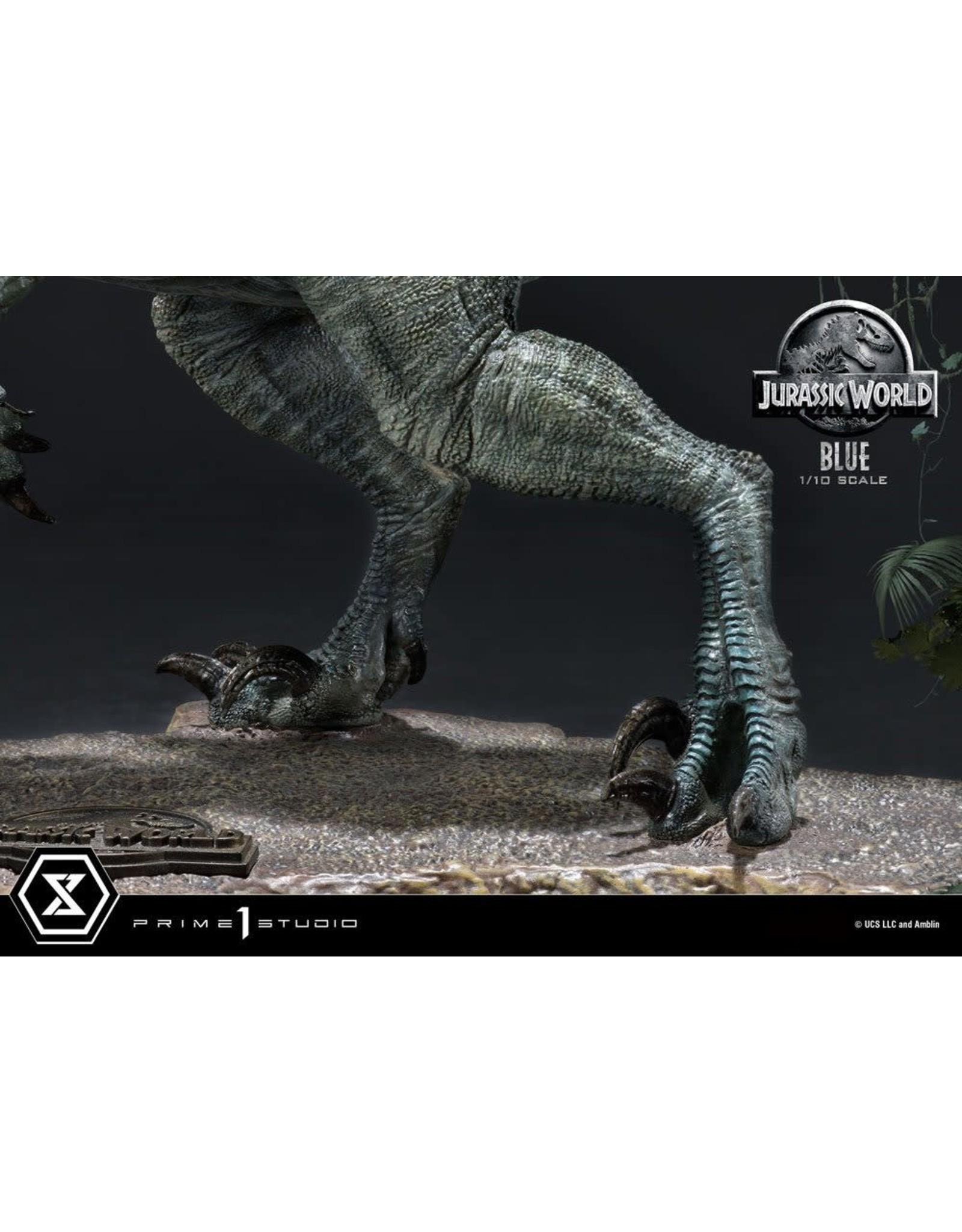 Prime 1 Studio JURASSIC WORLD: Fallen Kingdom Prime Collectibles PVC Statue 1/10 17cm -  Blue (Open Mouth Version)