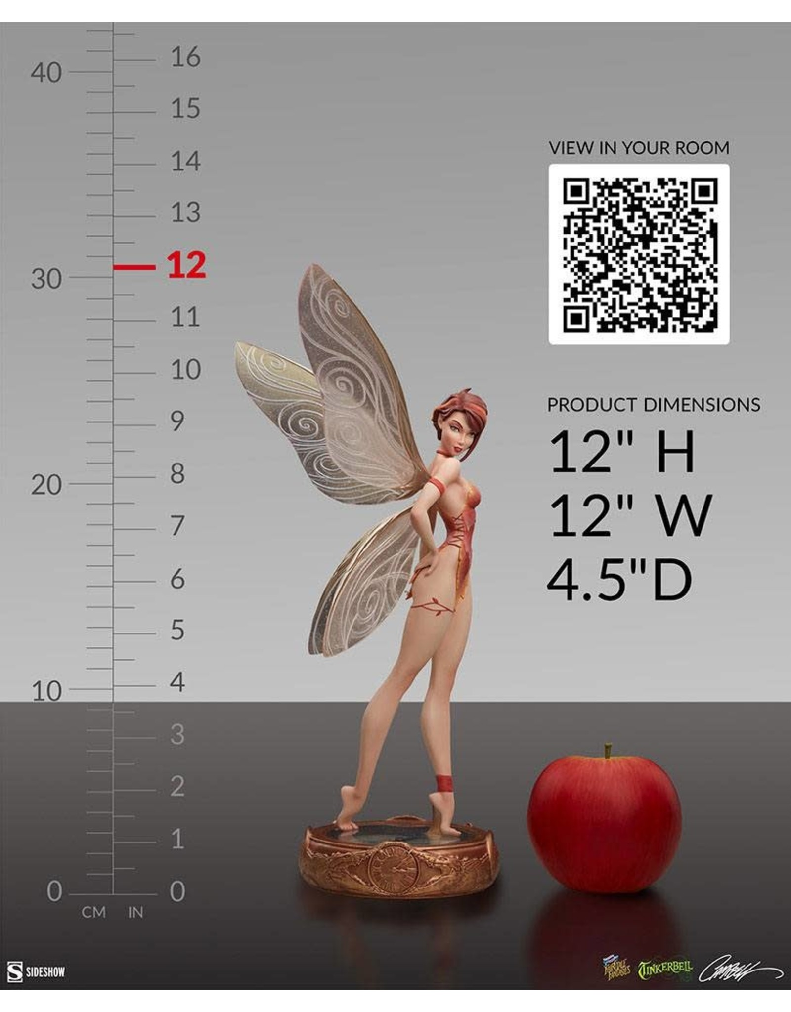 Sideshow Collectibles TINKER BELL Fairytale Fantasies Collection Statue  30cm - Fall Variant