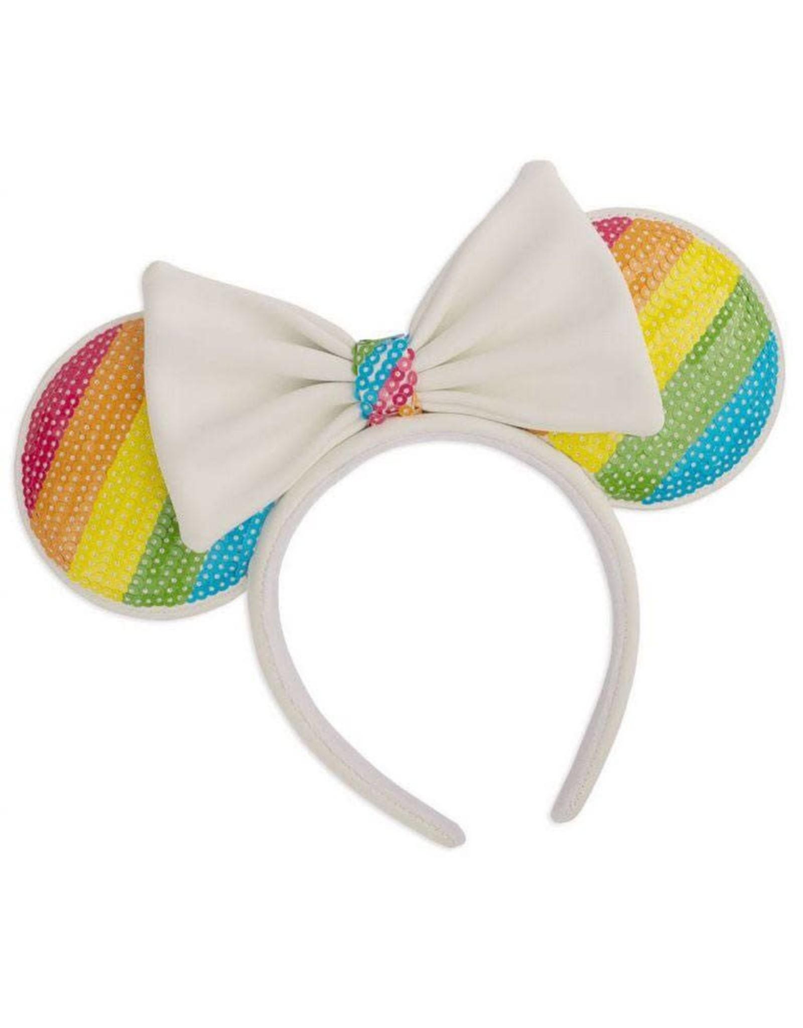 Loungefly MINNIE MOUSE Headband - Sequin Rainbow