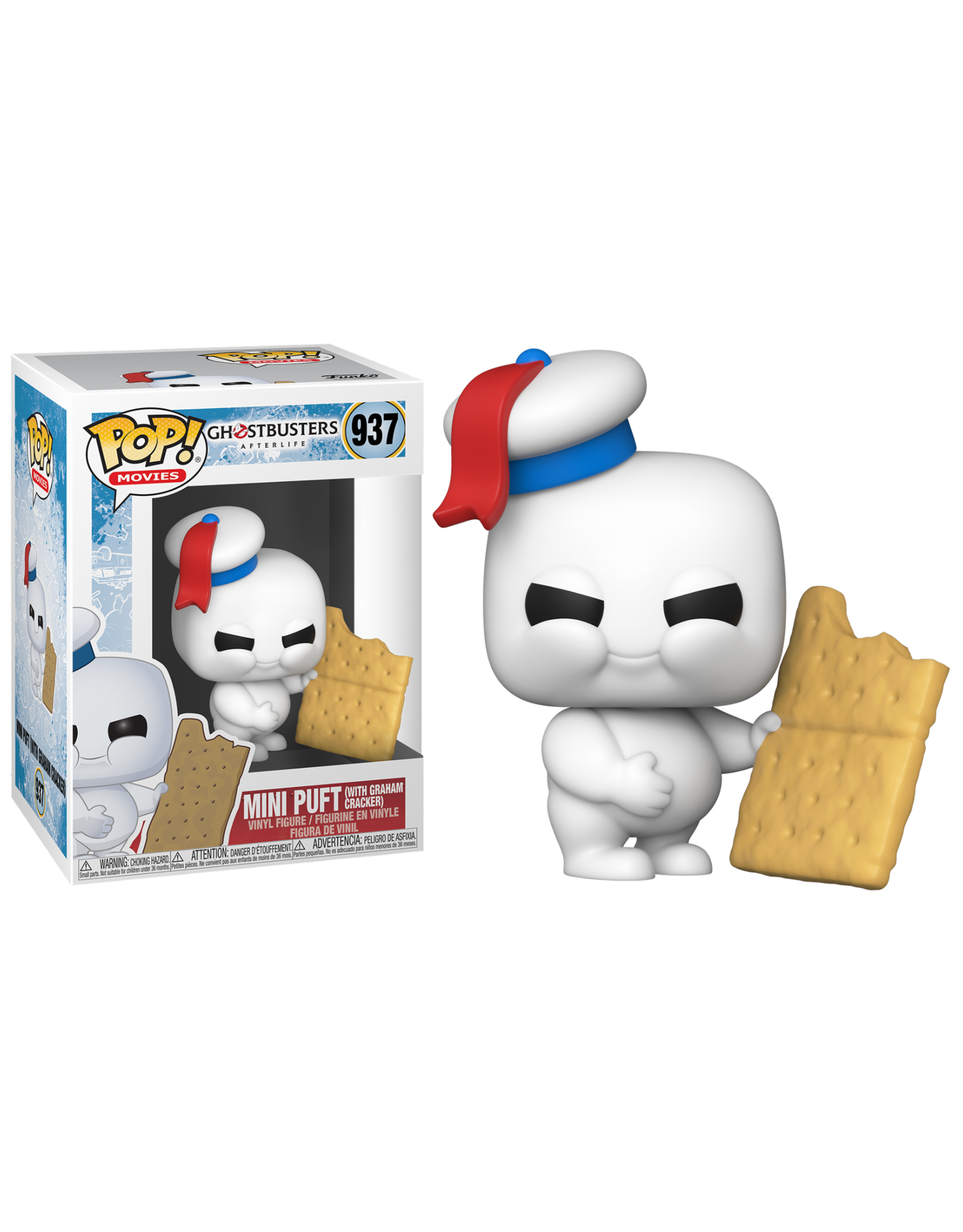Funko GHOSTBUSTERS Afterlife POP! N° 937 -  Mini Puft with Graham Cracker
