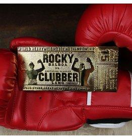 FaNaTtik ROCKY Gold Plated Ticket Replica - Rocky III World Heavyweight Boxing Championship