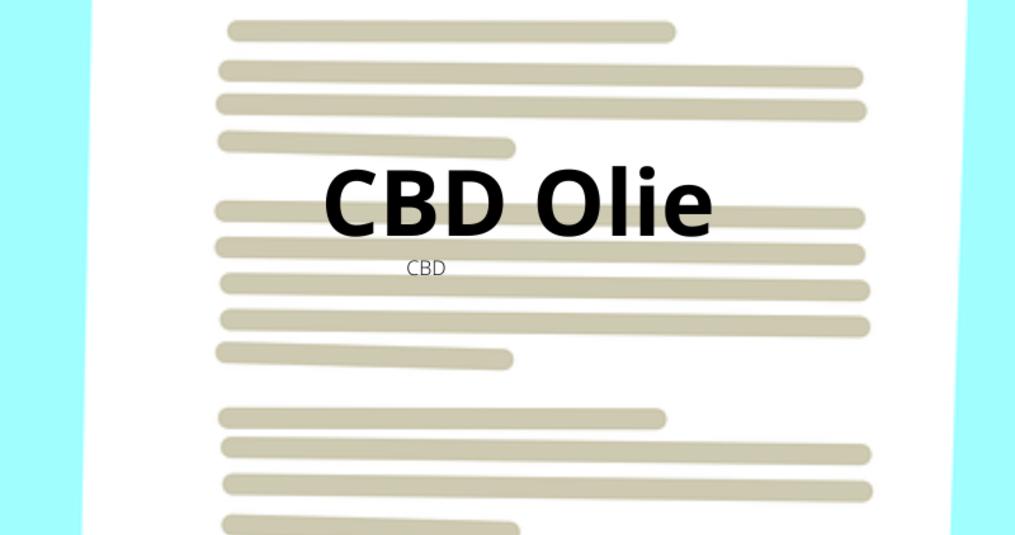 CBD Druppels Dosering