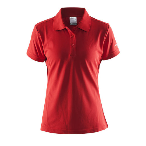 Craft Craft Polo Pique, dames, Bright Red