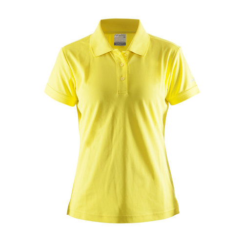 Craft Craft Polo Pique, dames, Yellow