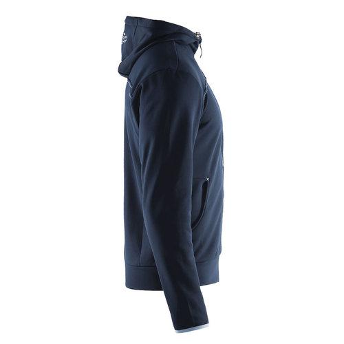 Craft Craft Leisure Hood Full Zip vest, heren, Dark Navy