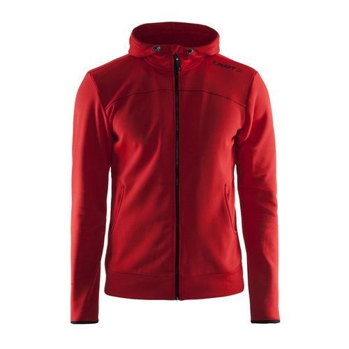 Craft Craft Leisure Hood Full Zip vest, heren,  Bright Red