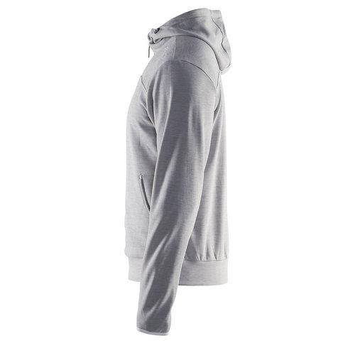 Craft Craft Leisure Hood Full Zip vest, heren,  Grey Melange