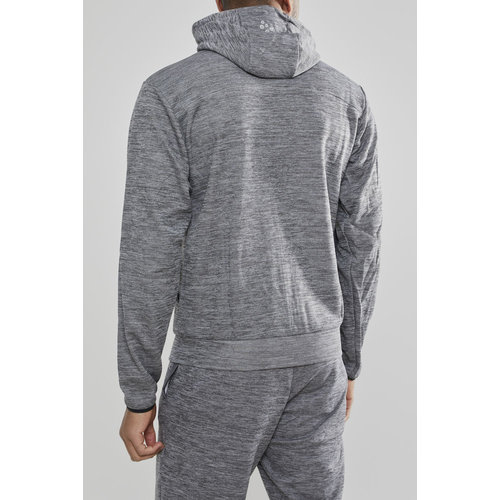 Craft Craft Leisure Hood Full Zip vest, heren, Dark Grey Melange