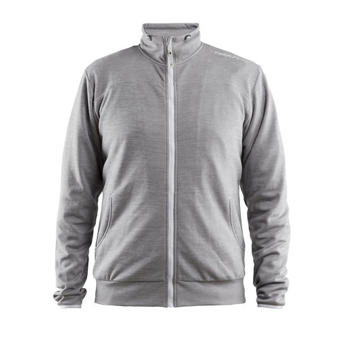 Craft Craft Leisure Jacket full Zip, heren, Grey Melange