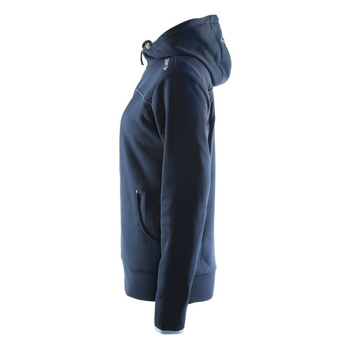 Craft Craft Leisure Hood Full Zip vest, dames, Dark Navy